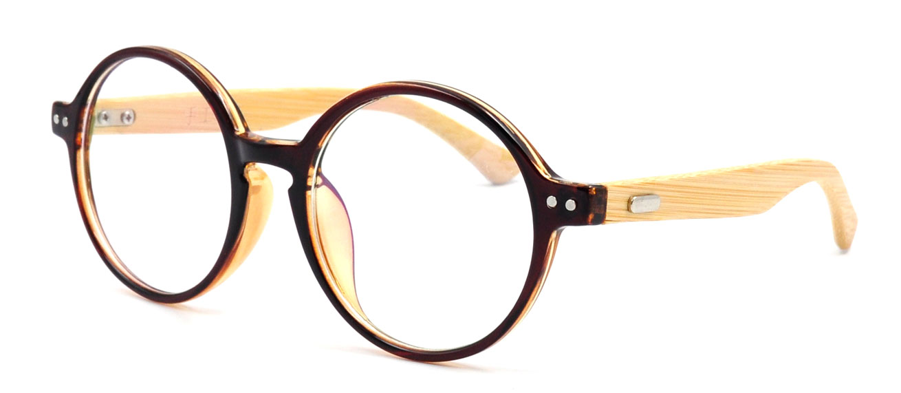 vintage retro mens womens wooden eyeglass frames round