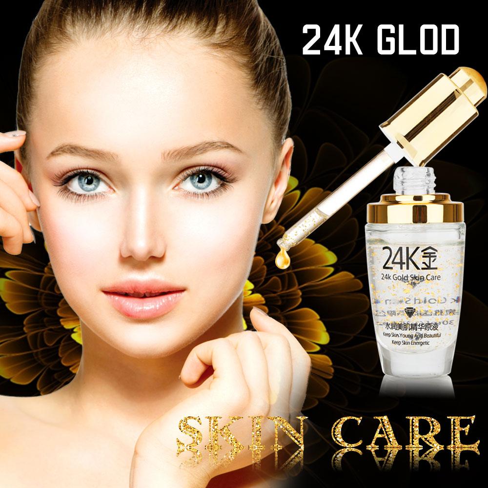 Skin Care Pure 24k Gold Essence Day Cream Anti Wrinkle Face Care Source · 24K GOLD Collagen Essence Oil Anti Aging Wrinkle Liquid Face Cream Moisturizing