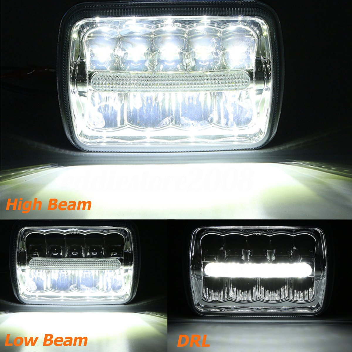 5x7 Quot 7x6 Quot Led Sealed Beam Headlight For Chevy Express