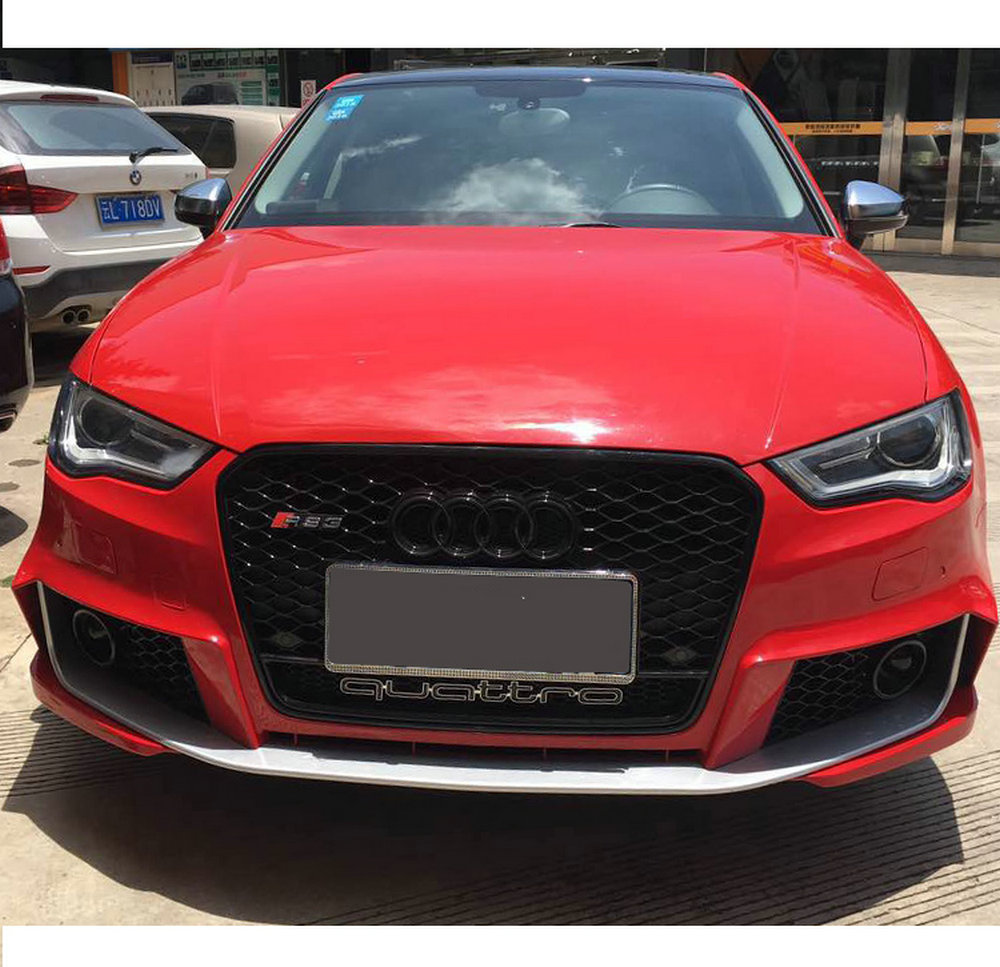 s3 grill front hood mesh henycomb bumper grille for audi a3 s3 2017 2018 black ebay. Black Bedroom Furniture Sets. Home Design Ideas