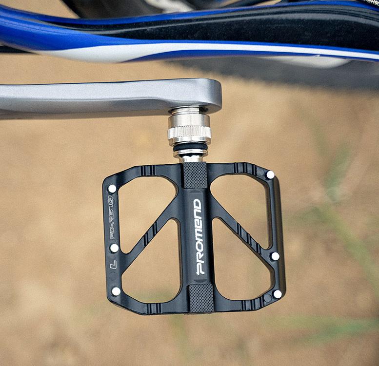 Pedali Bici MTB in Lega di Alluminio Nero Pedali Antipolvere Impermeabili Leggeri per la Sostituzione di MTB BMX Bicicletta da Strada con Perno Rimovibile Antiscivolo