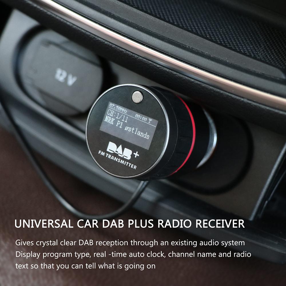 universal auto dab tuner autoradio fm transmitter usb. Black Bedroom Furniture Sets. Home Design Ideas
