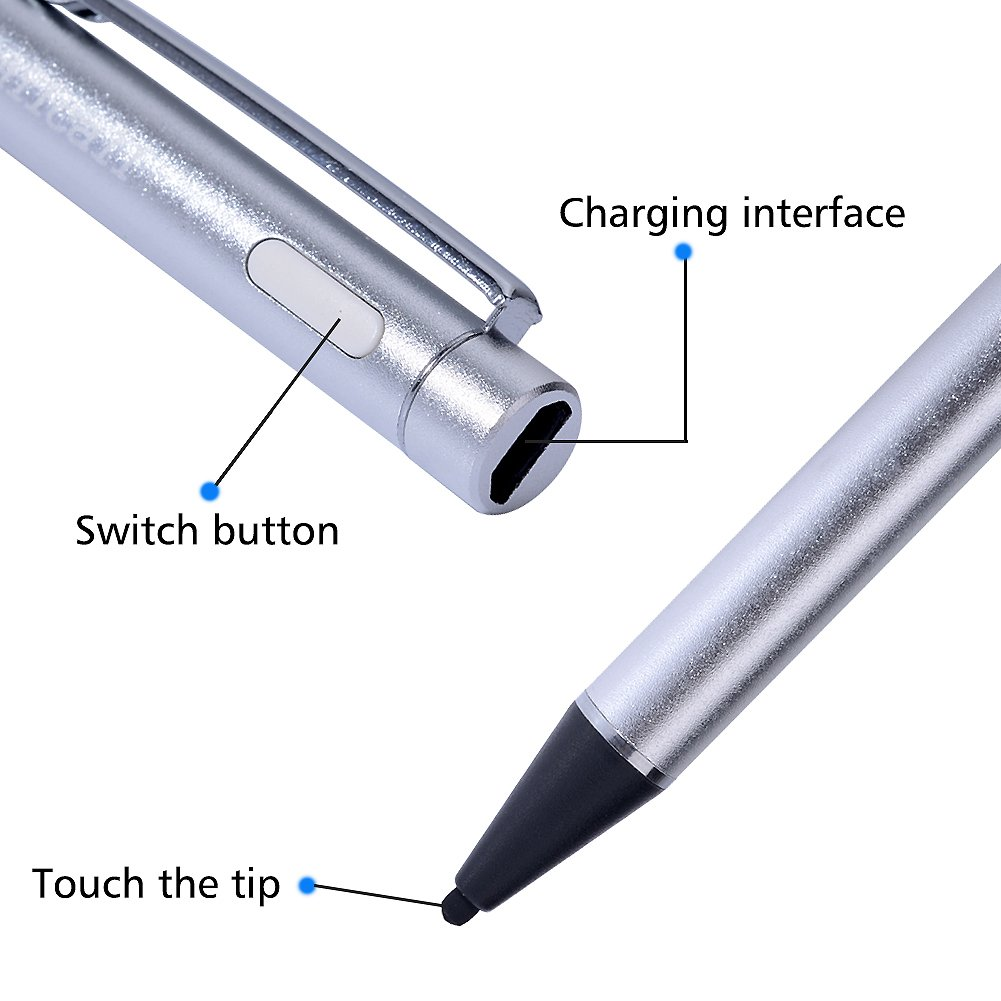 Fine Point Precision Drawing pen Aimilcall USB Rechargeable Active Stylus Pen
