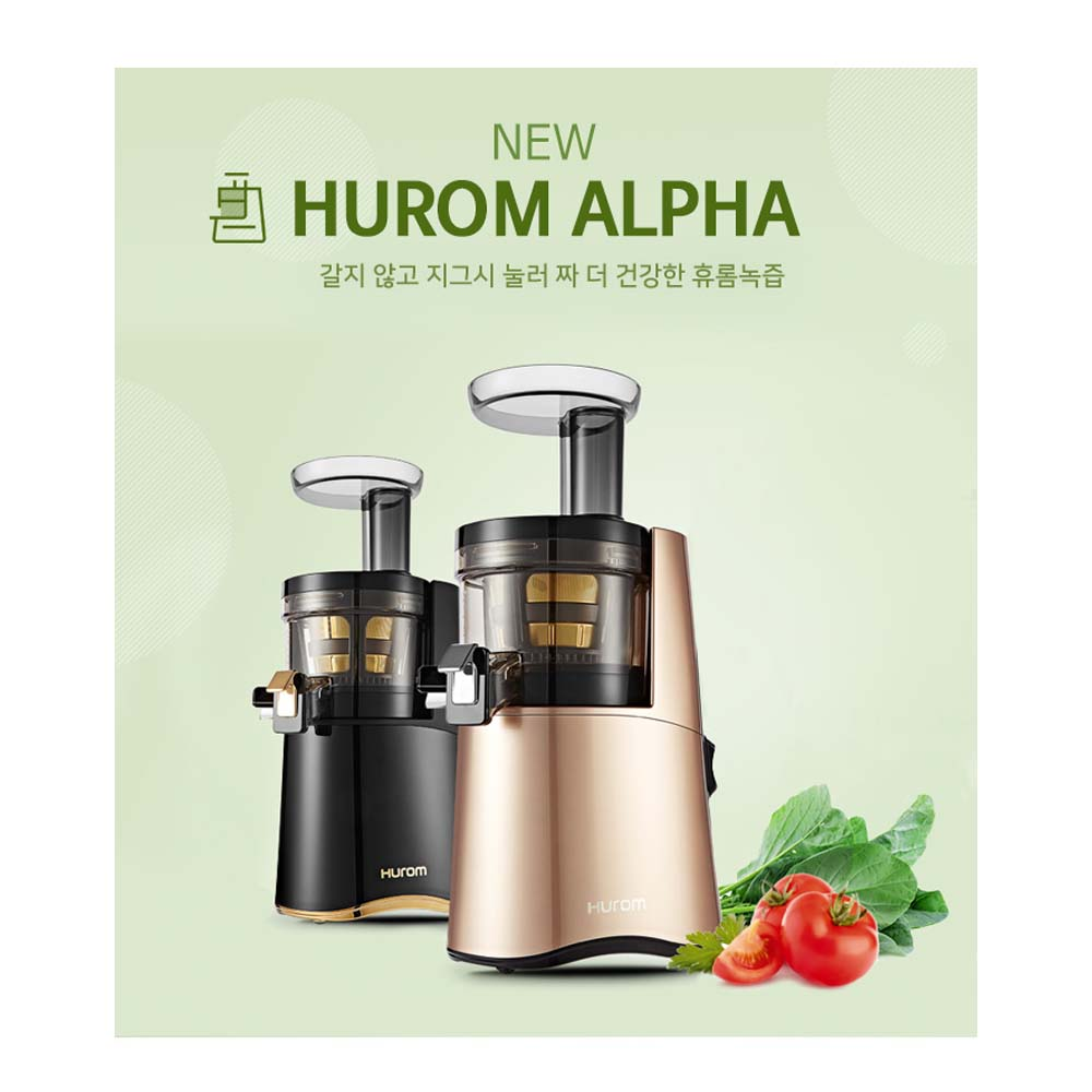 Hurom Slow Juicer H-AA-BBF17 220v 60HZ Black Gold H-AA ...