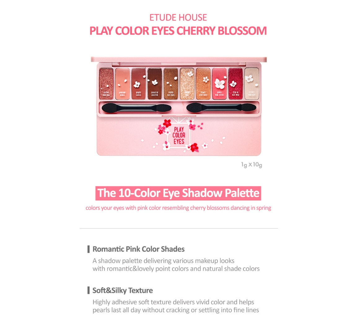 Ship from USA] Etude House Play Color Eyes Cherry Blossom Eye Shadow ...