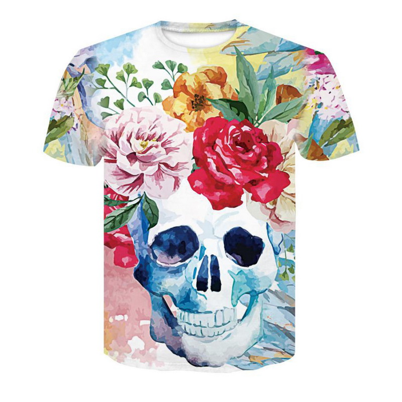 3D Printed T-Shirts Floral Short Sleeve Tops Tees