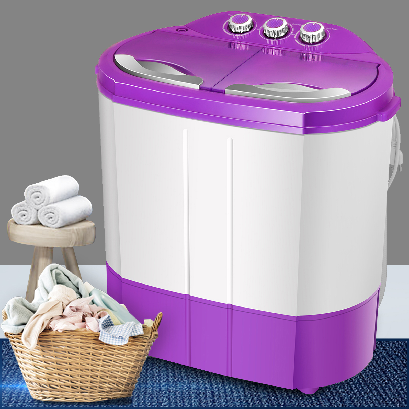 99lbs Portable Washing Machine Mini Laundry Washer And Dryer
