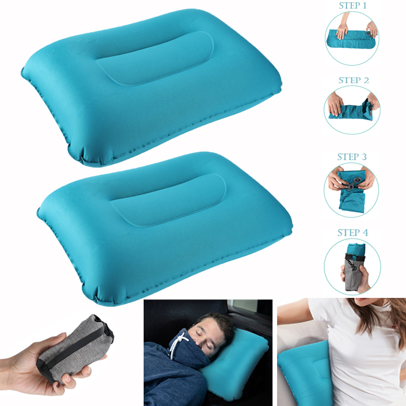 """Inflatable Comfortable Ultralight /""""Cloud/"""" Camping Backpacking Travel Pillow"""