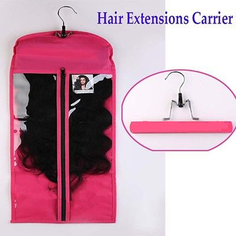 Details About Hair Extensions Carrier Storage Non Woven Suit Case Bag Package With Hanger