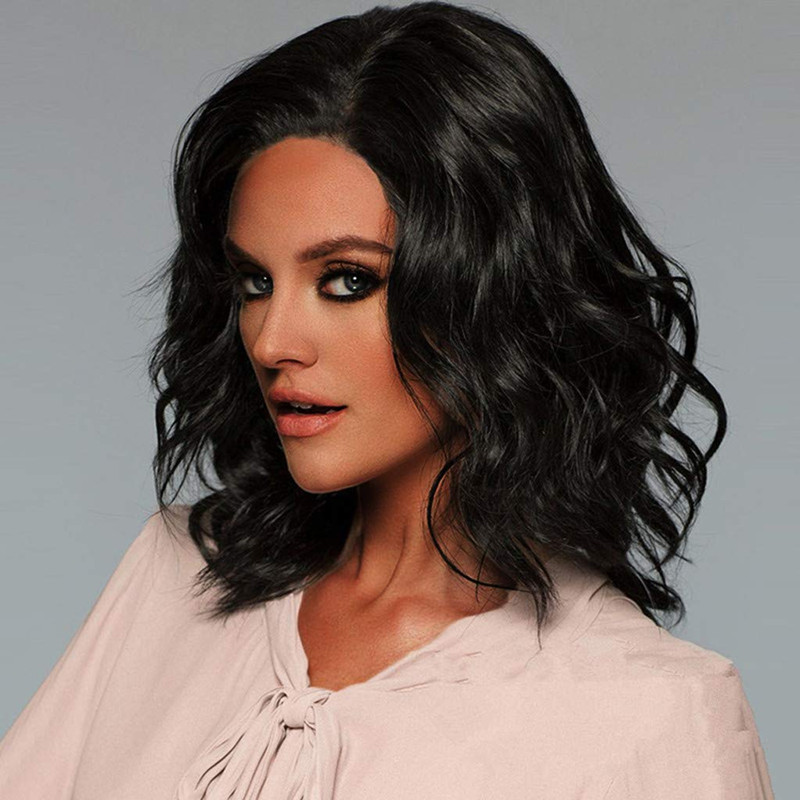 Details about Short Black Curly Wigs Heat