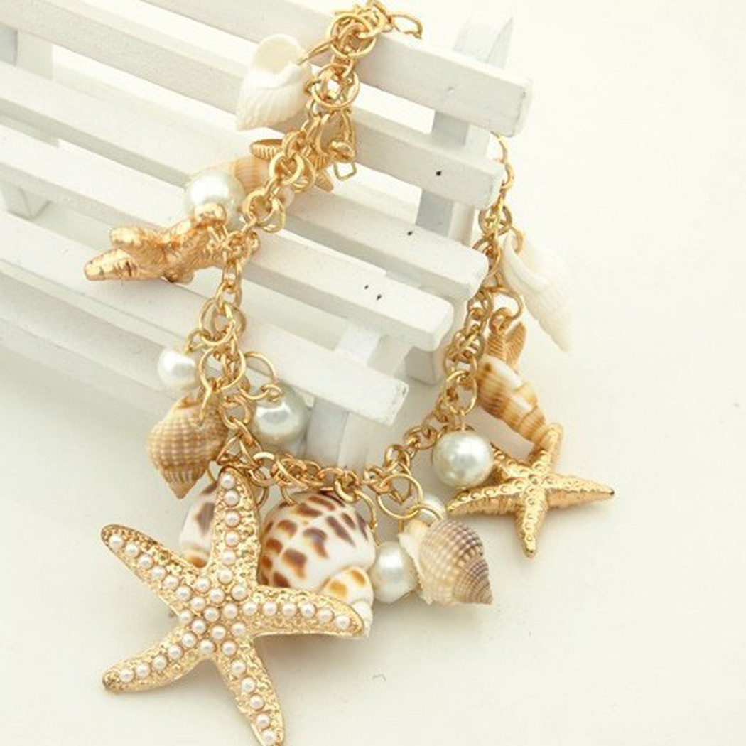 filled gold bracelet nautical sgs mulitcolor multicolor beach jewelry anchor az bling fish