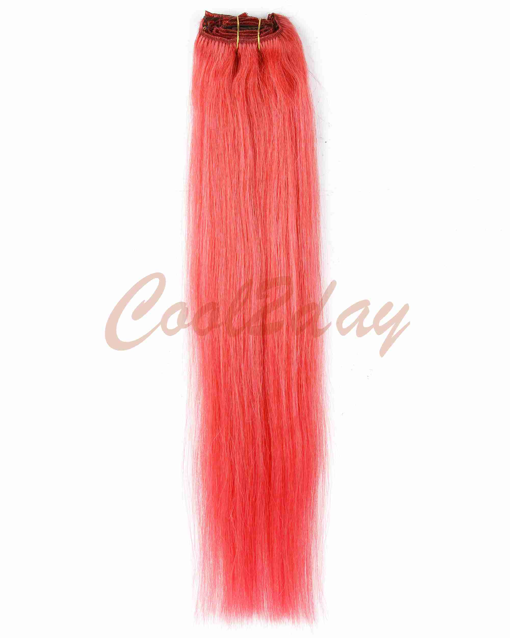 Full Head 15 24 Clips In Remy Human Hair Extension Bright Red 70g