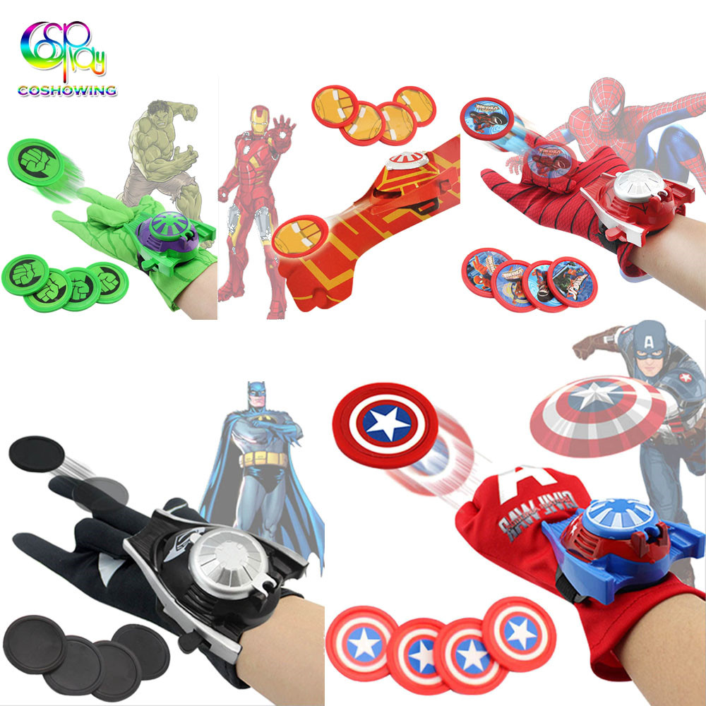 Marvel Avengers Super Hero Launchers Gloves Spiderman Children Kid/'s Toy Cosplay