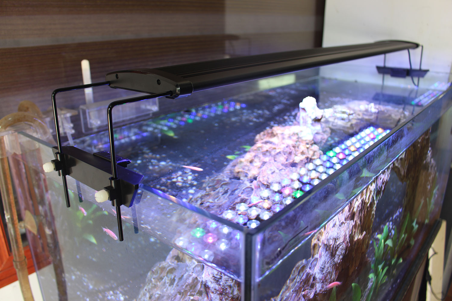 aquarium licht led beleuchtung volles spektrum f r koralle pflanzen meerwasser ebay. Black Bedroom Furniture Sets. Home Design Ideas
