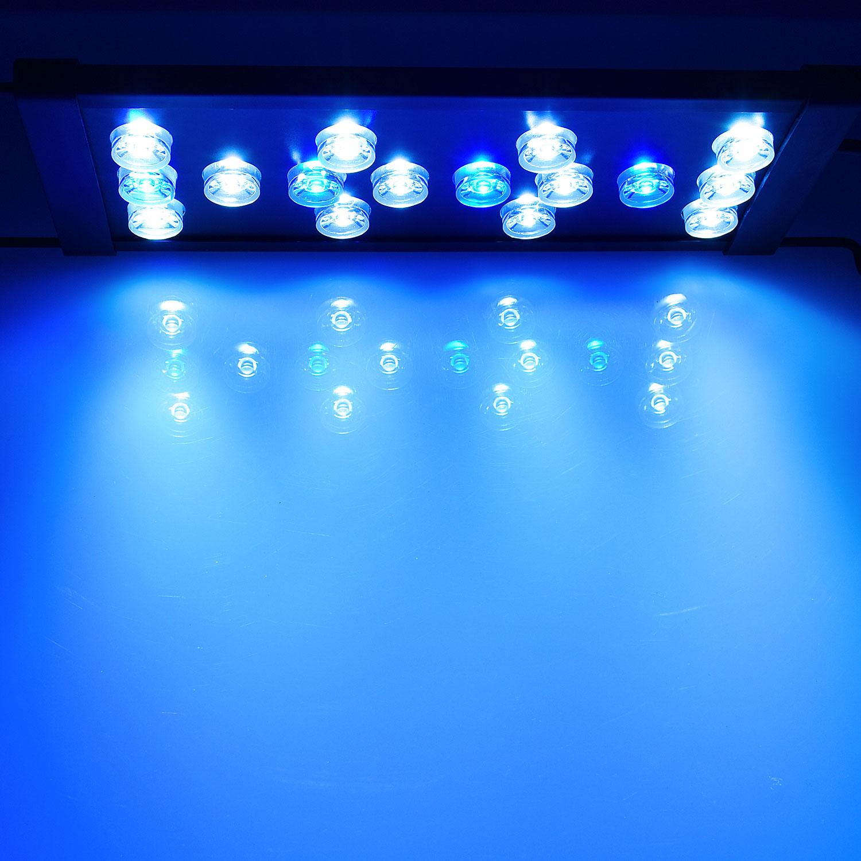 16w led 30cm 50 cm meerwasser s wasser aquarium beleuchtung aufsatzleuchte ebay. Black Bedroom Furniture Sets. Home Design Ideas