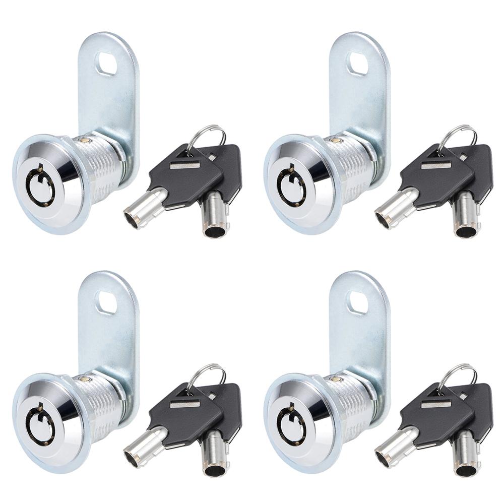 Tubular Cam Lock with Chrome Finish Keyed Alike Removable Key 1, Pack of 5