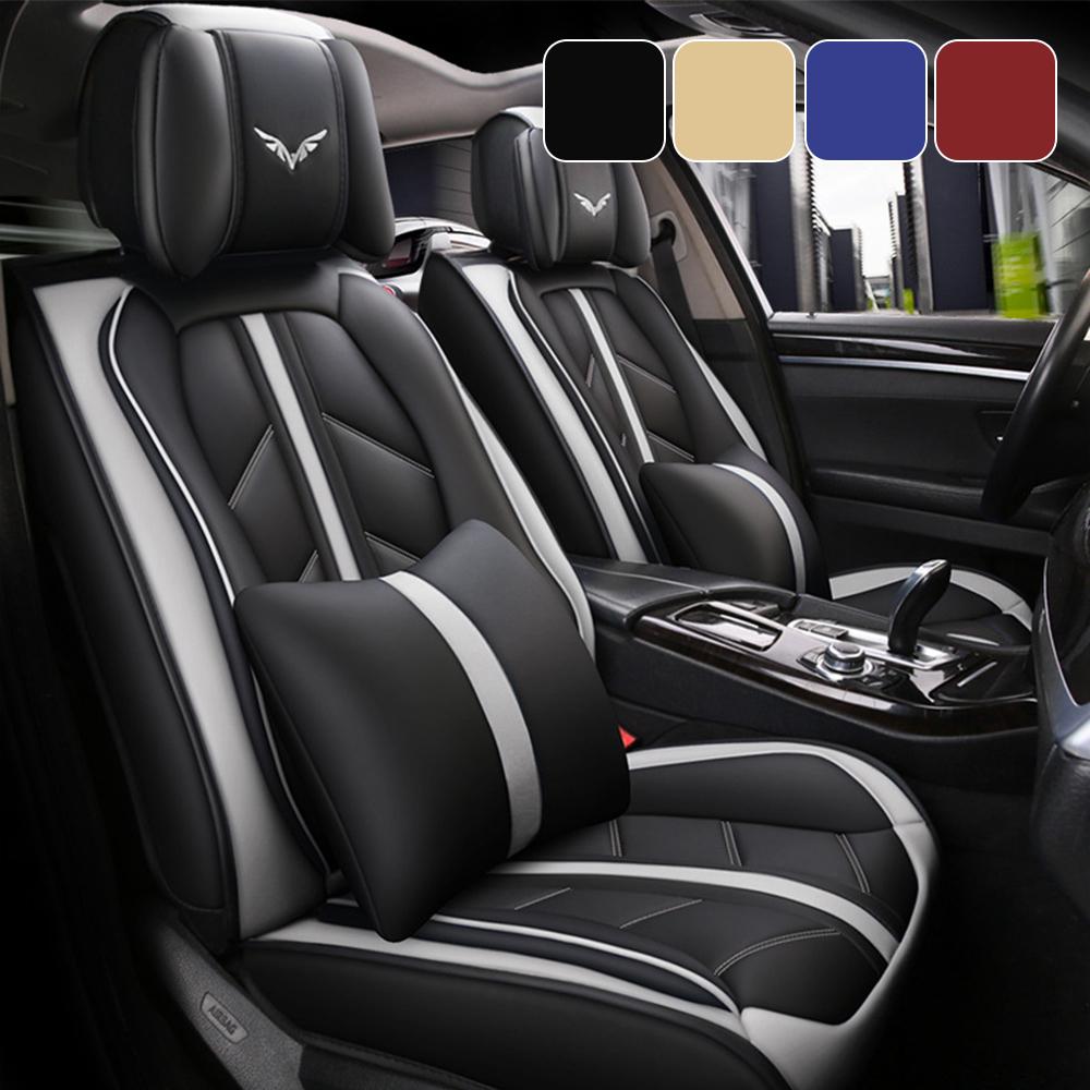 H Pair Duty Black Waterproof Car Seat Covers RENAULT Megane Coupe Cabriolet
