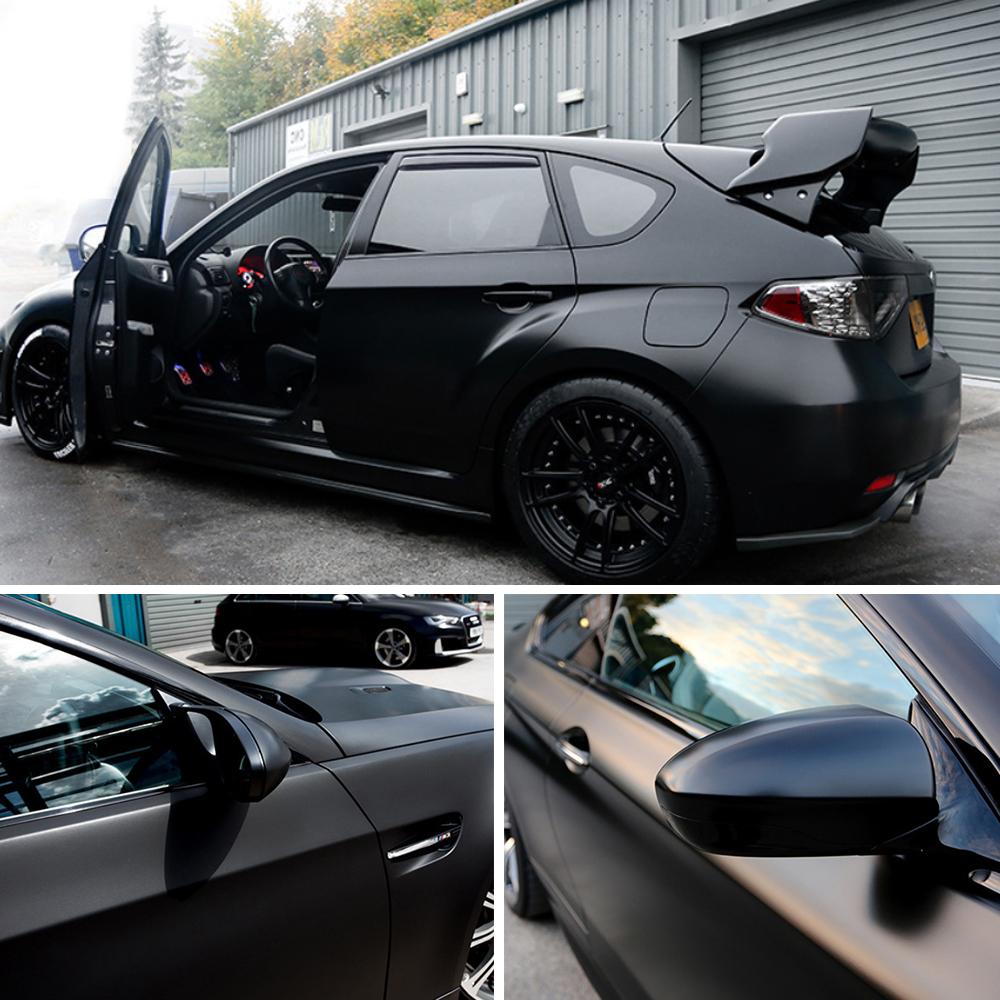 Matte Black Car Wrap >> Details About Premium Matte Black Vinyl Car Wrap Film Sticker Decal Texture Sheet Bubble Free
