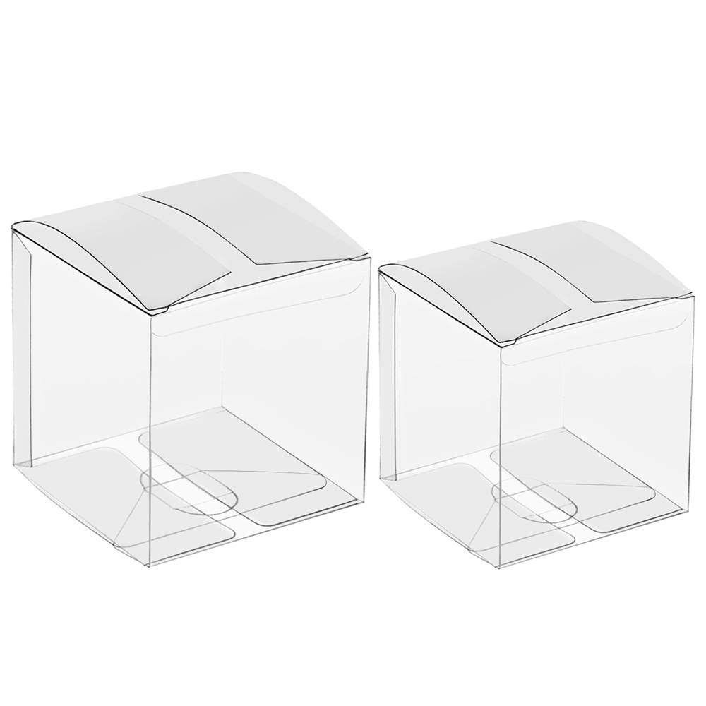 Lot of 50//100//200Pcs Clear PVC Plastic Candy Boxes for Party Favor Gift Cupcakes