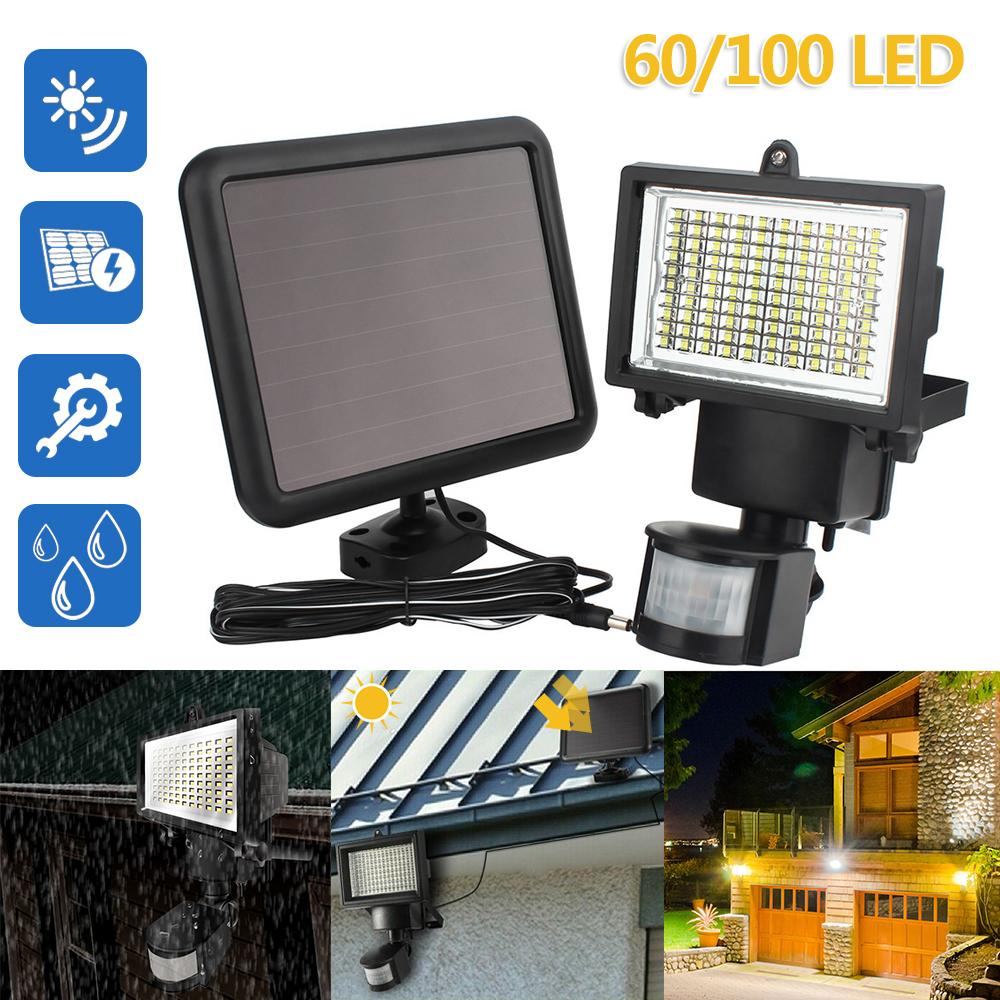 100 LED Solar Powered Sensor Light Security Flood Motion Garden Outdoor Lamp USA