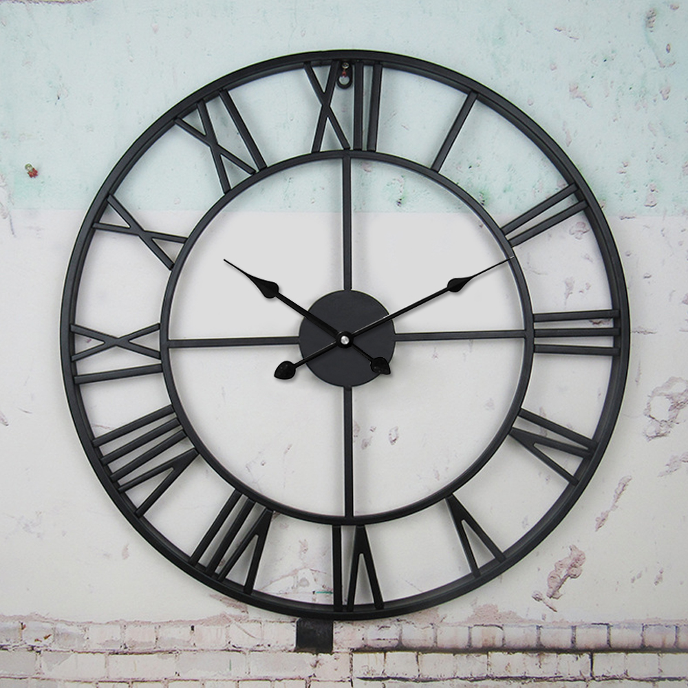 Large Outdoor Garden Wall Clock Antique Roman Numeral