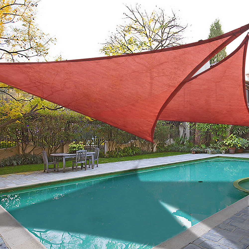 Outdoor Sun Shade Sail Top Canopy 185GSM Triangle ...