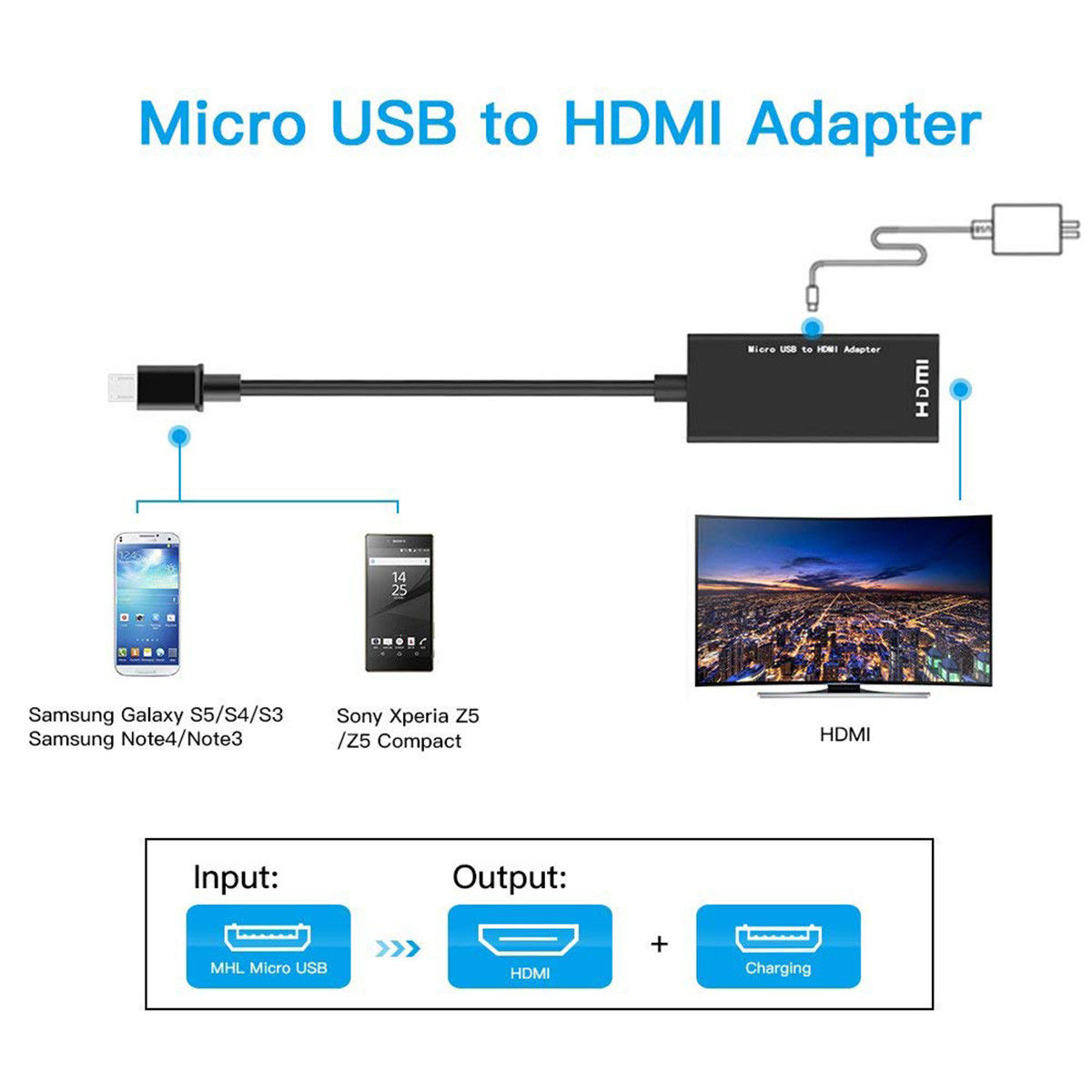 Micro Usb To Hdmi 1080p Wire Cable Tv Av Adapter For Mobile Phones Wiring Diagram Tablets Hdtv