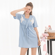 219fecd35b Nursing Breastfeeding Dress V-neck Twins Birds Homewear Cotton Cute 8 10 12