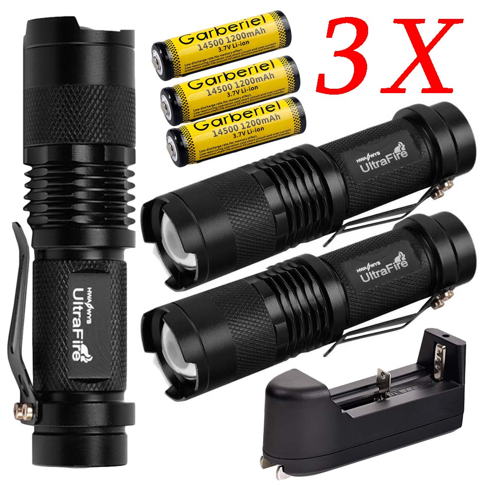 Battery Charger OxyLED 8000LM MINI Tactical ZOOM T6 LED Flashlight Lamp