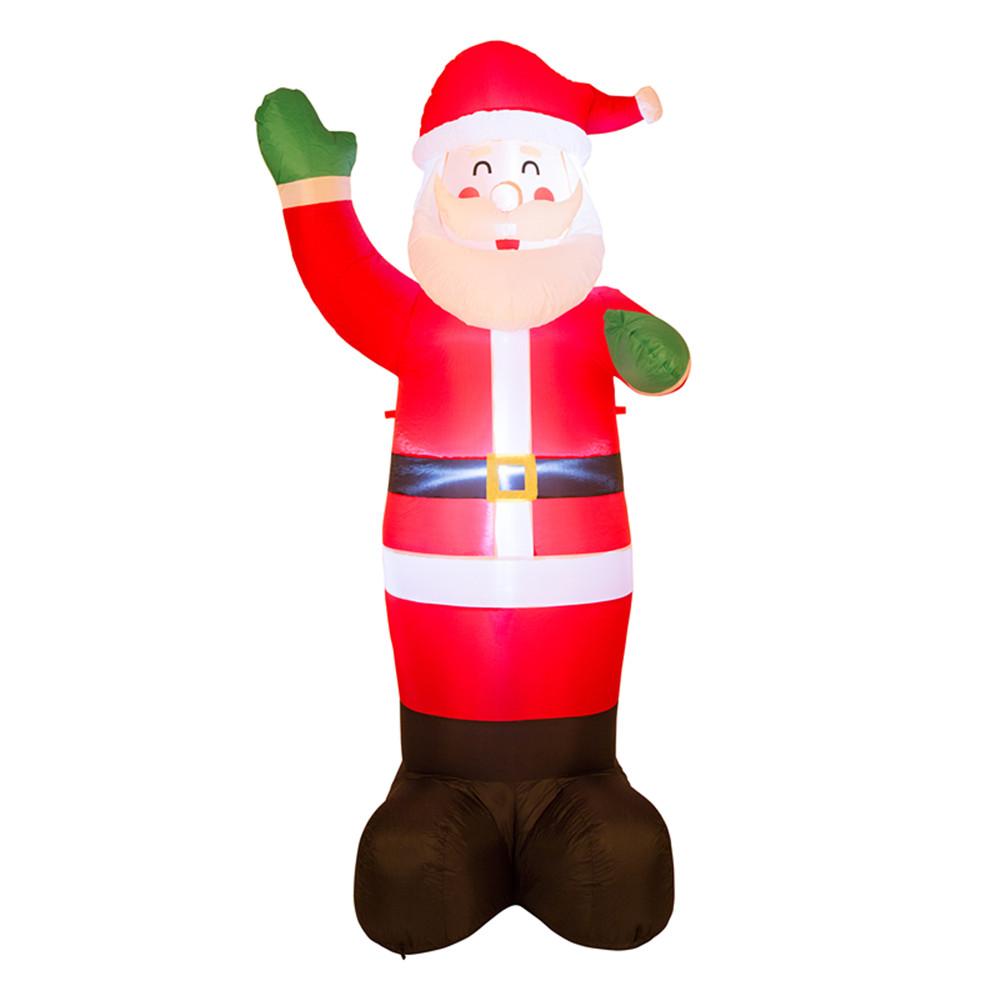 Glitzhome 8.14\' Air Blown Santa Clause Lighted Inflatable Xmas Yard ...