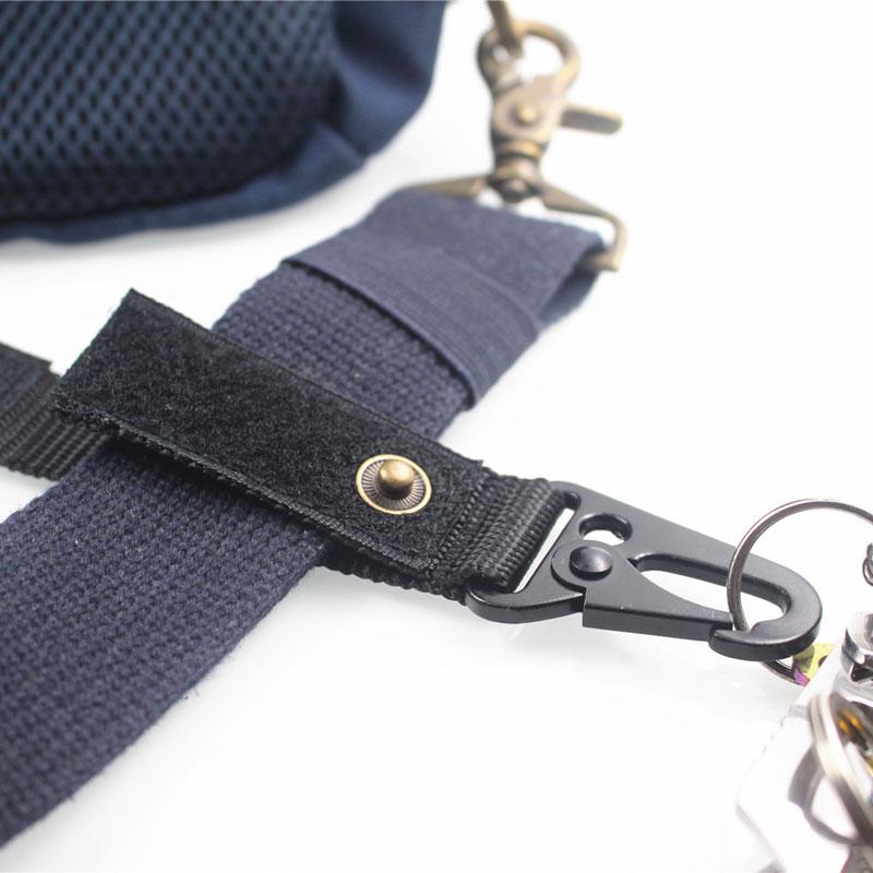 Molle Webbing Hanging Belt With Steel HK Snap Hook Clip Nylon Strap for 5cm Belt