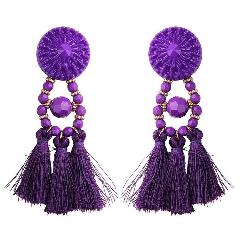 Women-Retro-Rhinestone-Long-Tassel-Earrings-Eardrop-Dangle-Fringe-Drop-Jewelry