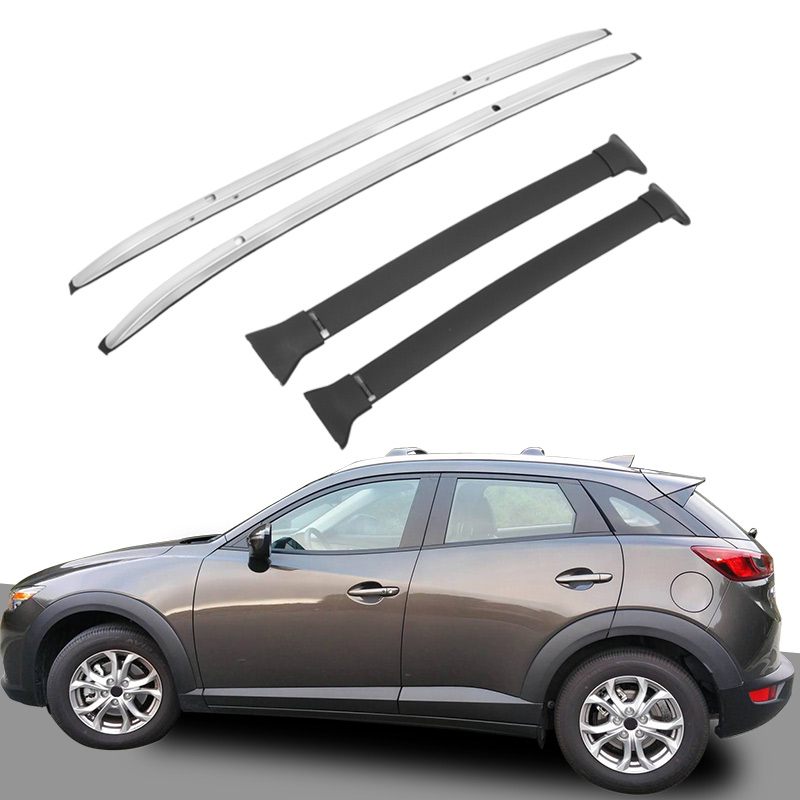 4 PCS Fit For Mazda CX-3 2016 2017 2018 Black Aluminum