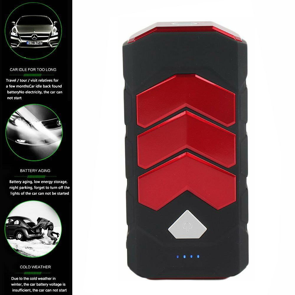 Details About 89800mah 600a Car Jump Starter Boost 2 Usb Battery Power Bank Charger Led Torch