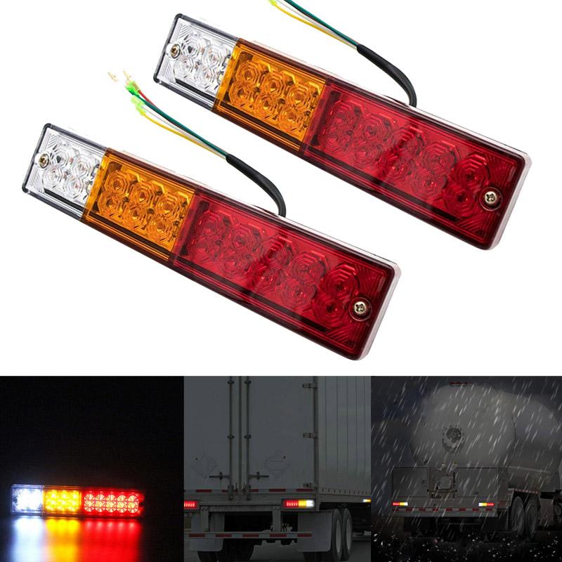4/x 24/V Outline rund Seite Marker 3/LED wei/ß Leuchte Lampe f/ür LKW Trailer Truck