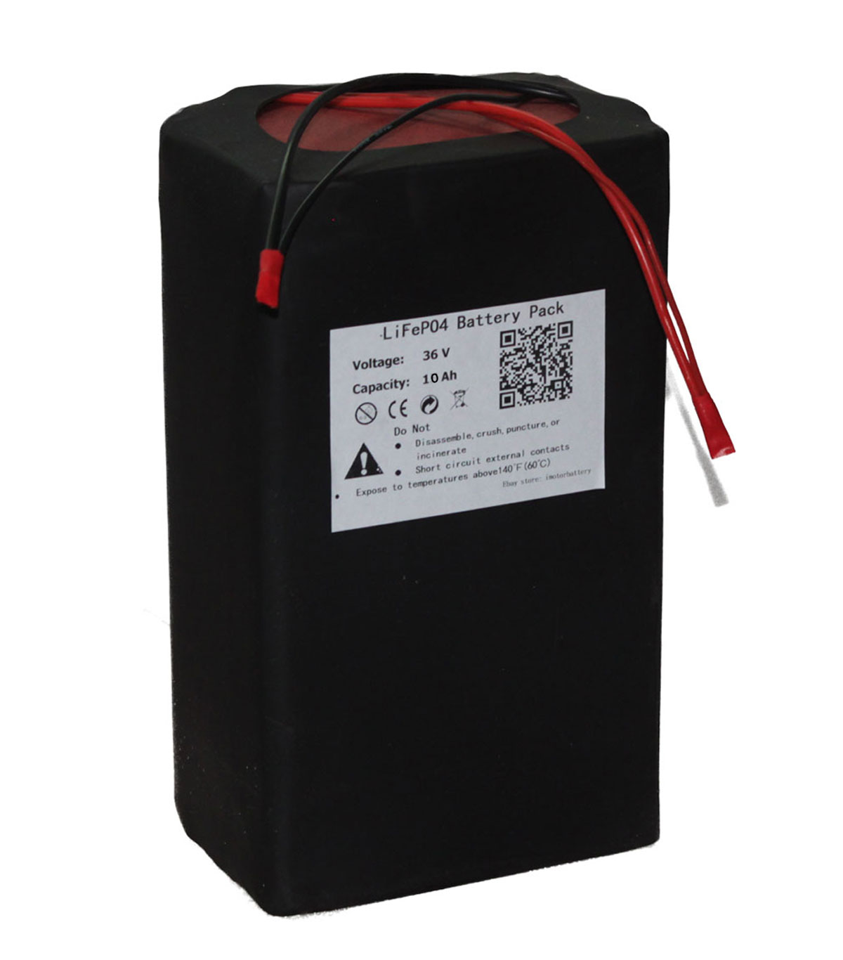 36V 10Ah Lithium LiFePO4 Battery Pack for Electric Bike Bicycle Ebike 500W Motor