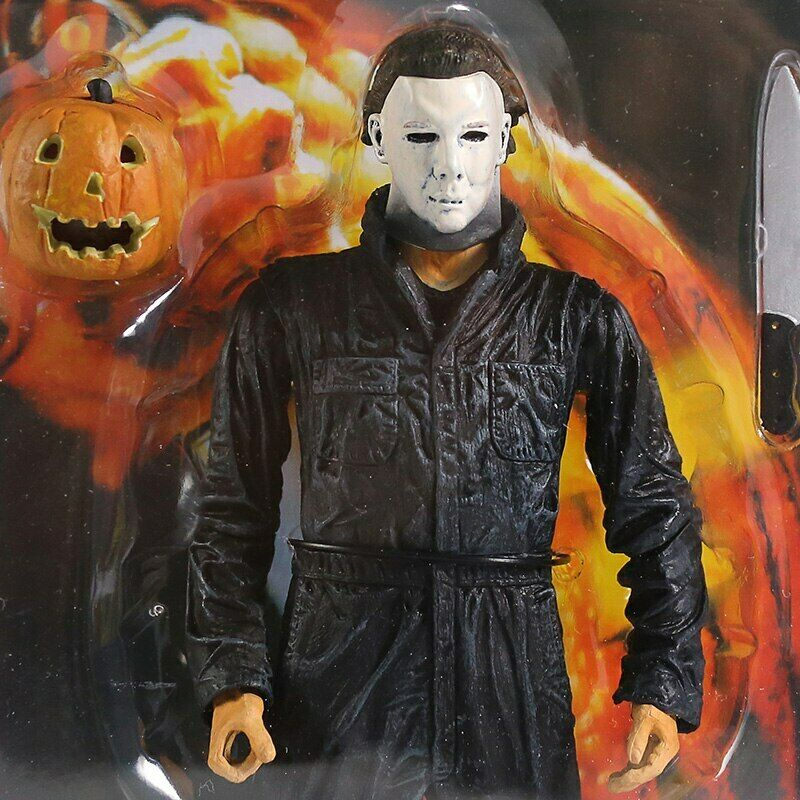 "Halloween Ultimate Michael Myers Neca action figure 7/"" Light Up Pumpkin ensemble NEUF"