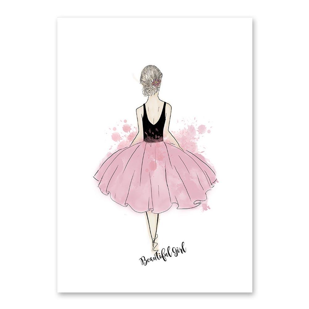 Lovely-Girls-Art-Canvas-Print-Poster-Wall-Decor-No-Frame-For-Kids-Living-Room