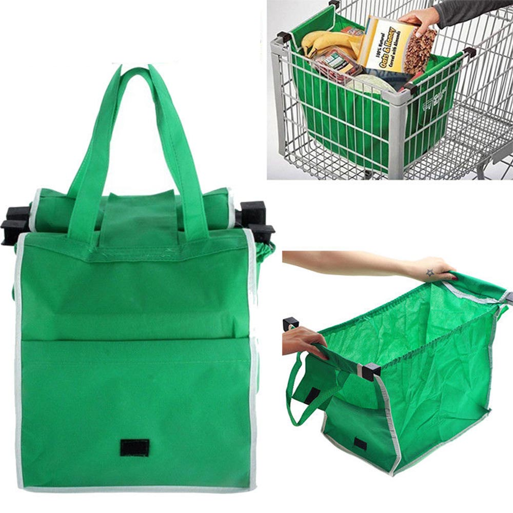 Grocery Shopping Bag Foldable Tote Eco-friendly Reusable ...