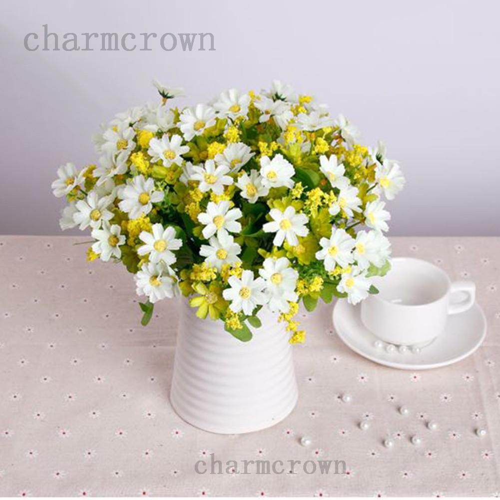 1 Bouquet 28 Heads Dedicated Trendy Fake Daisy Silk Flower Home