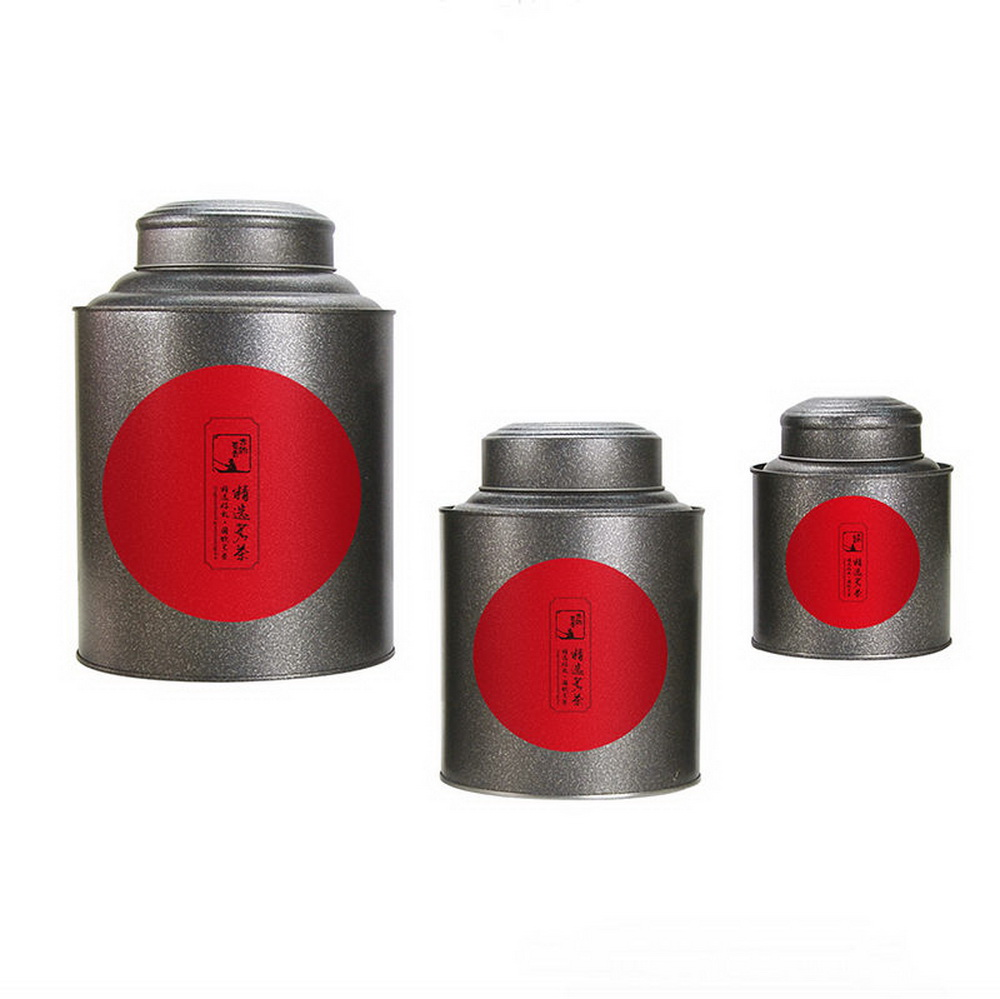 double lid tea tin metal canister coffee can jar kitchen storage