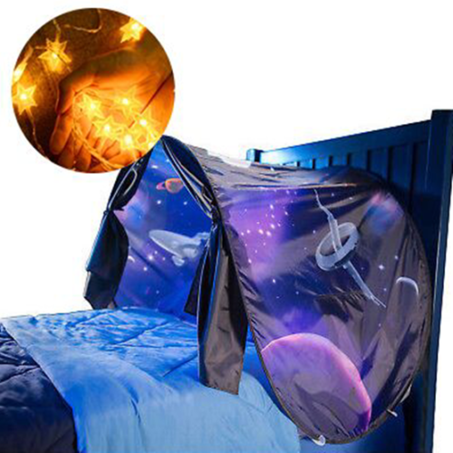 Details about Dream Tent Kids Space Adventure Rockets Foldable Tent Pop up Indoor Bed + Light