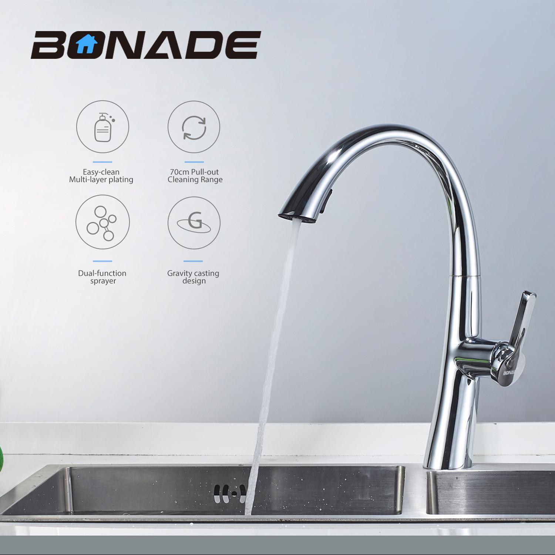 Ausziehbar Küche Küchenarmatur mit Brause Wasserhahn Mischbatterie ...