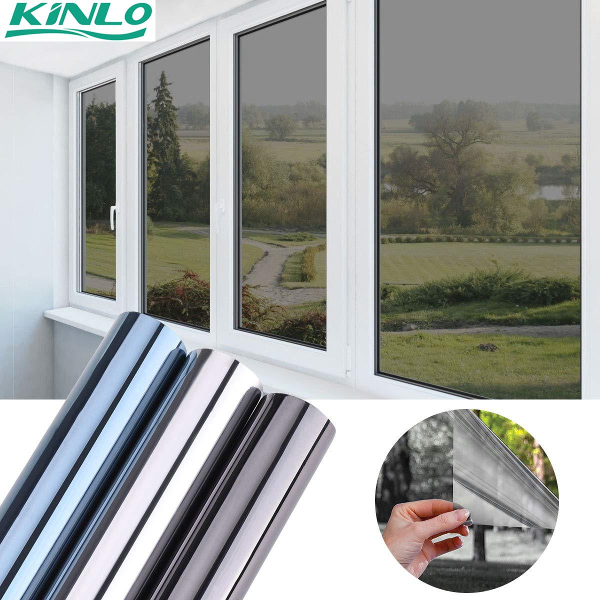 300x75cm Spiegelfolie Sonnenschutzfolie Ohne Kleber Fensterfolie