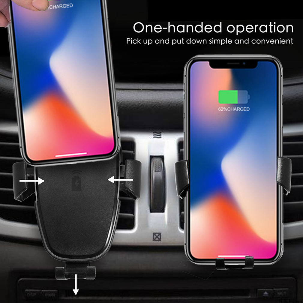auto wireless charger kfz ladeger t qi induktive. Black Bedroom Furniture Sets. Home Design Ideas