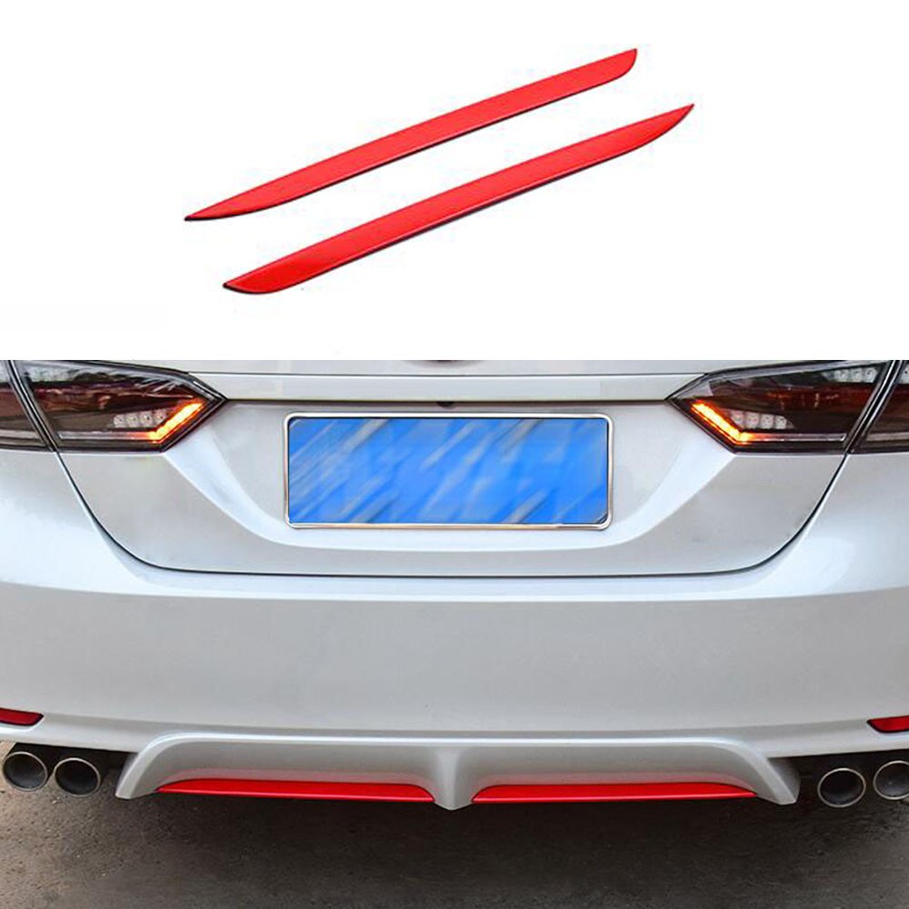 Black Stainless Rear Rear Bumper Rear Lip Cap Cover Trim For Toyota Camry 2018
