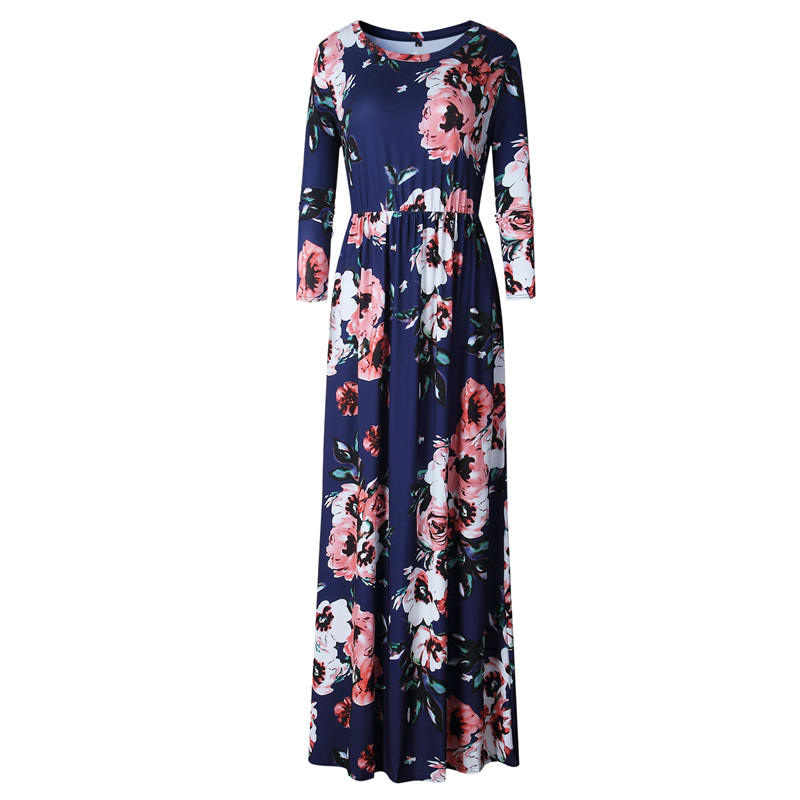 d46ec94993b Plus Size! UK Boho Womens Floral Pocket Party Ladies Summer Long Maxi Dress  6-20