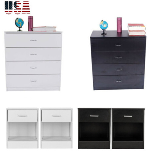 Details about Chests of Drawers Modern Bedroom Dresser Set Storage 4  Drawers Chest Cabinet US