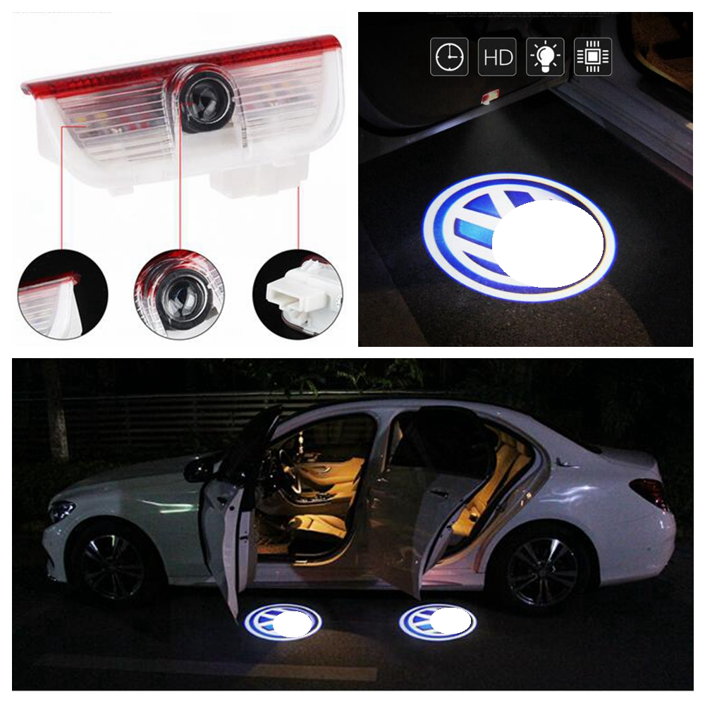 Details About 2x Welcome Courtesy Door Light LED Projector Lamp Ghost  Shadow Car Logo Magotan