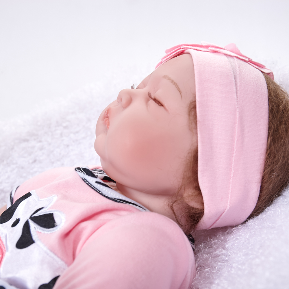 22 Quot Reborn Baby Dolls Handmade Silicone Sleeping Realistic